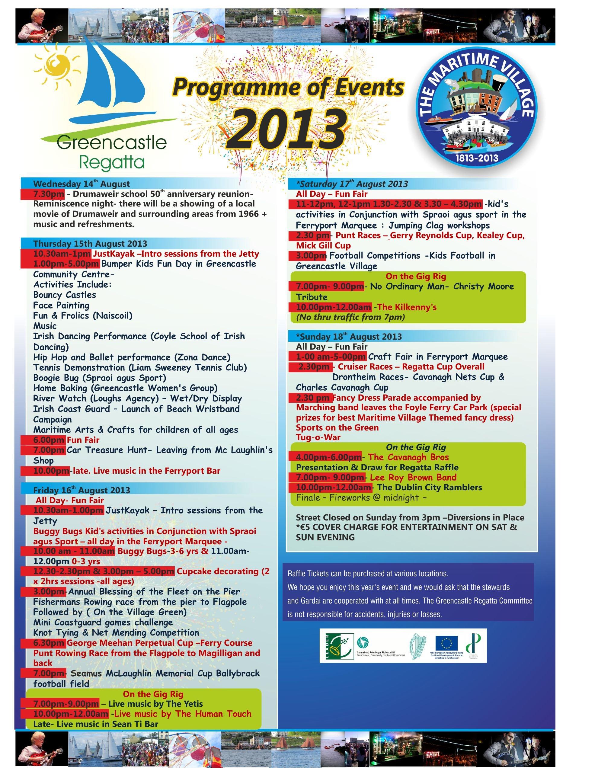 Greencastle Regatta Programme