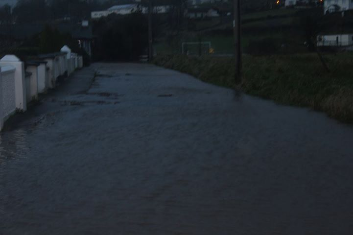 River Row in Moville storm
